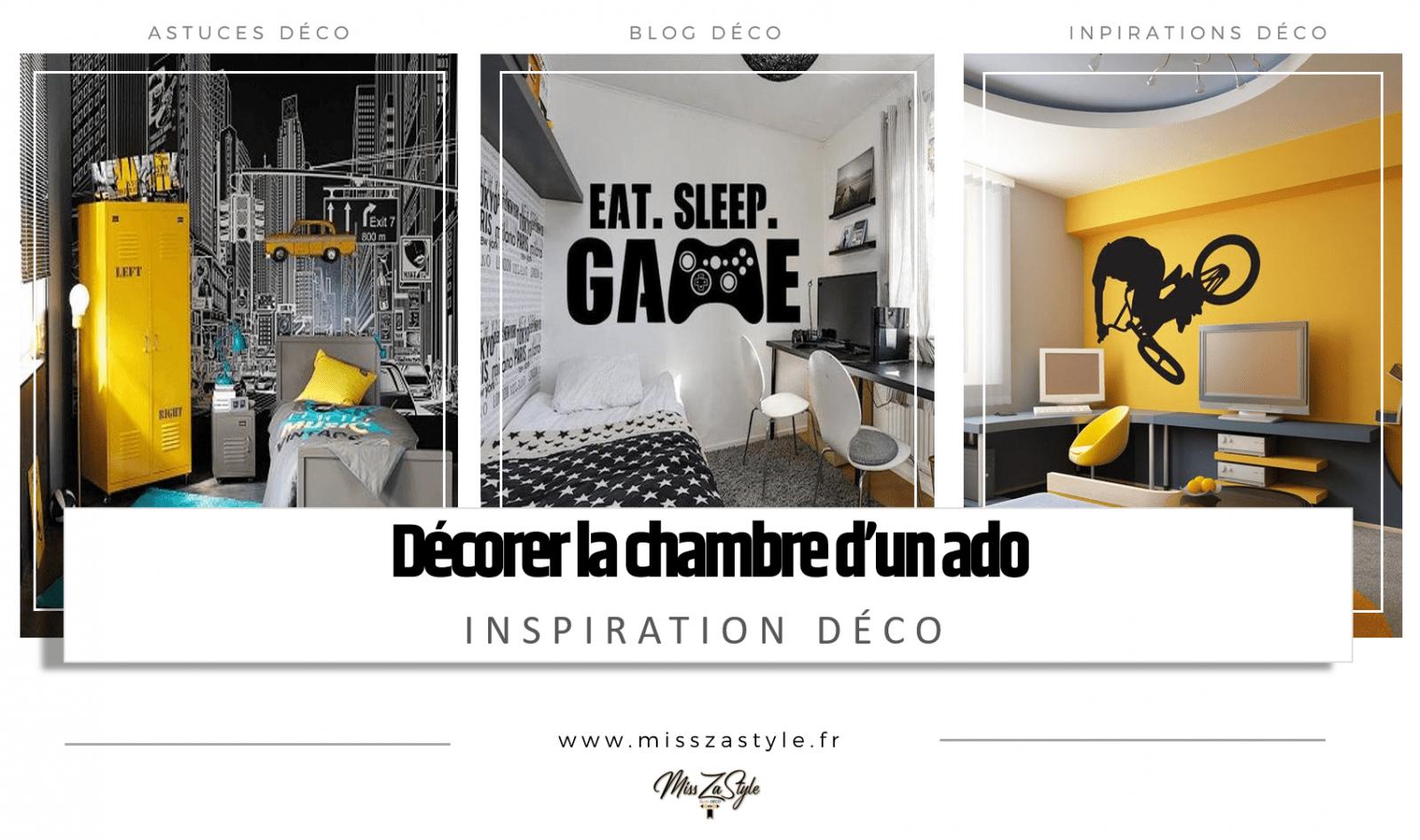 Modele Chambre Fille Ado décorer la chambre d'un ado- misszastyle - blog déco