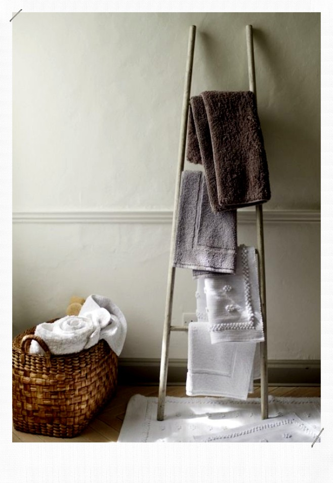 Echelle porte serviettes
