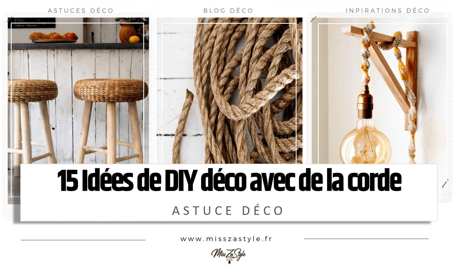 19 idées DIY déco avec de la corde- MissZaStyle - Blog Déco