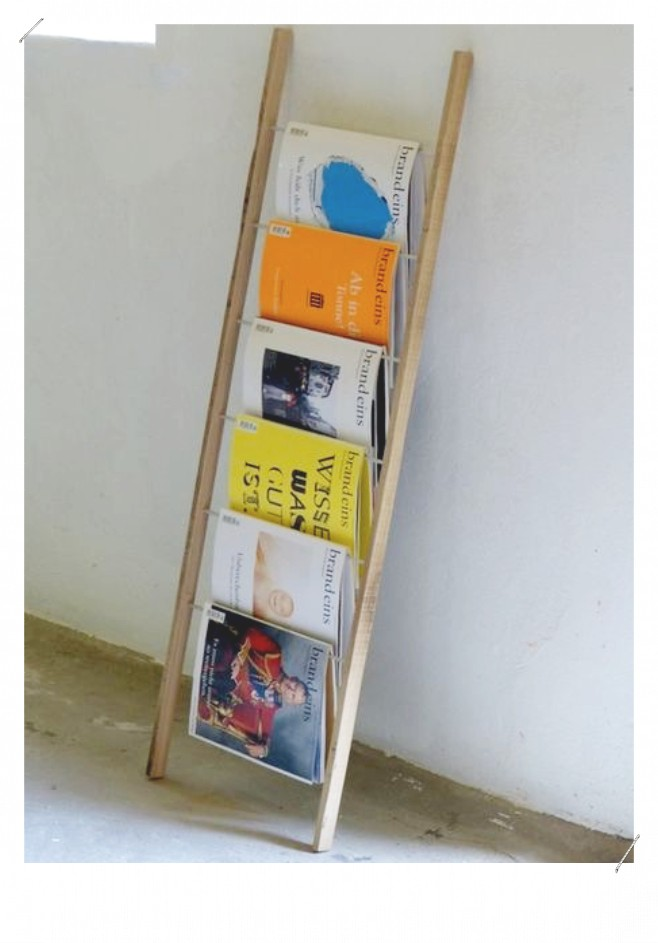 Echelle porte-magazine
