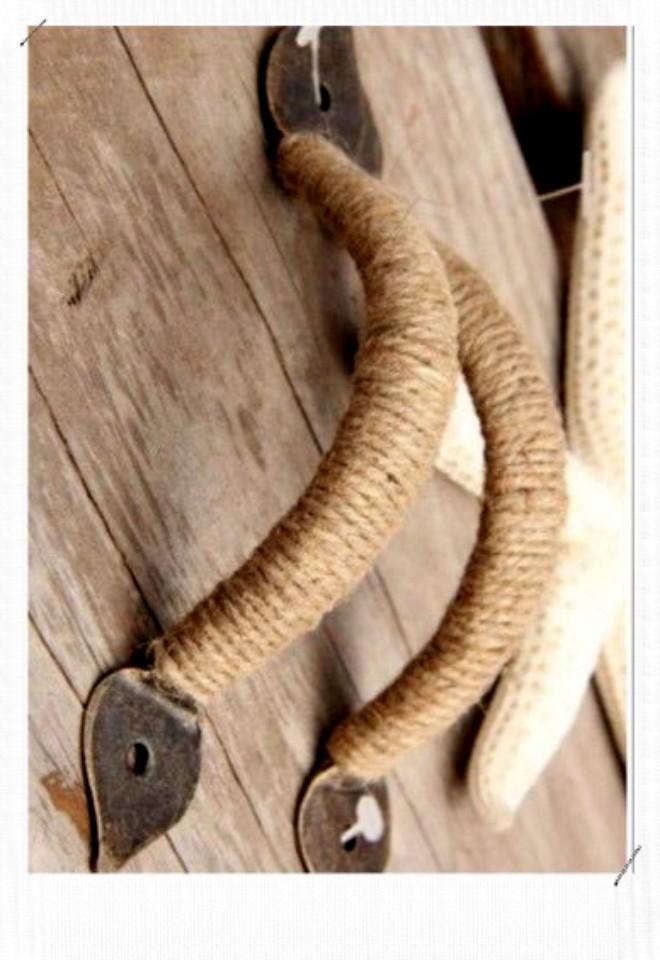 Poignée couverte de corde