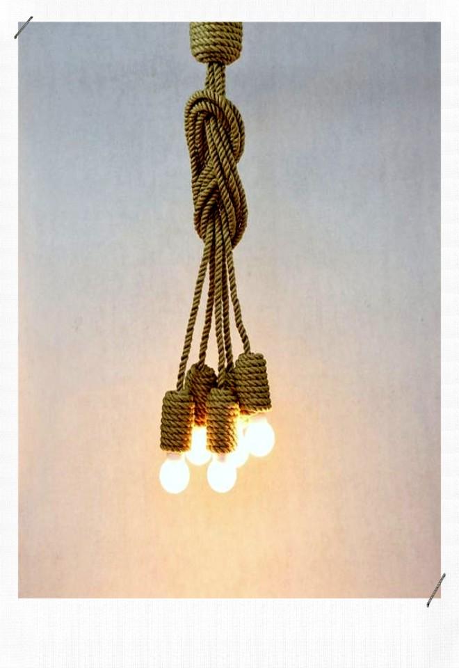 luminaire ficelle