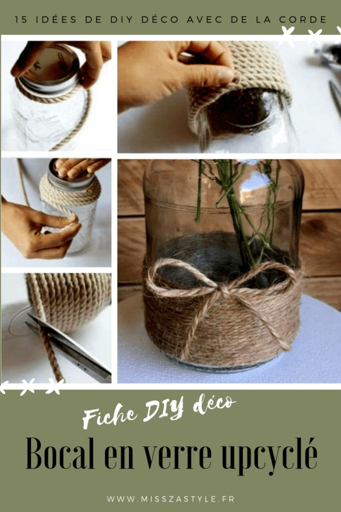 Fiche DIY bocal upcyclé