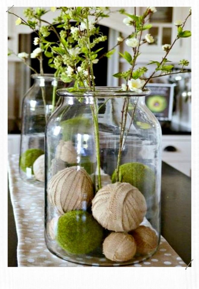 Pomme de touline dans un vase