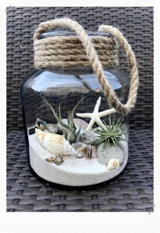 pot décoré avec de la ficelle