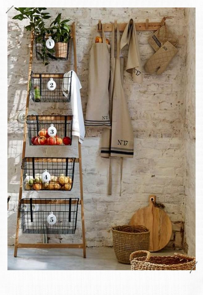 échelle porte accessoire de cuisine