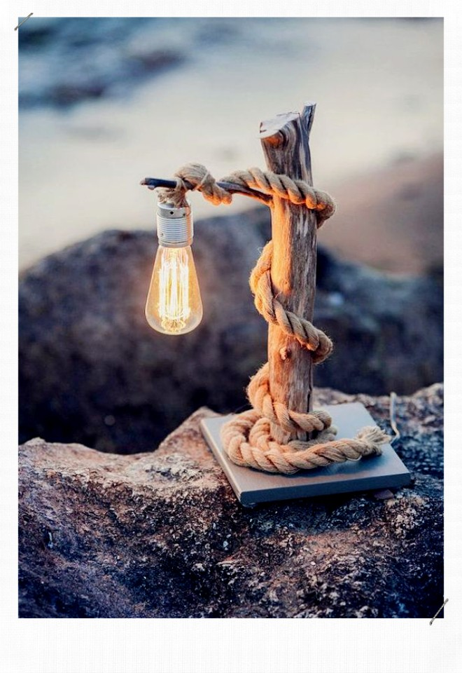 lampe bois floté