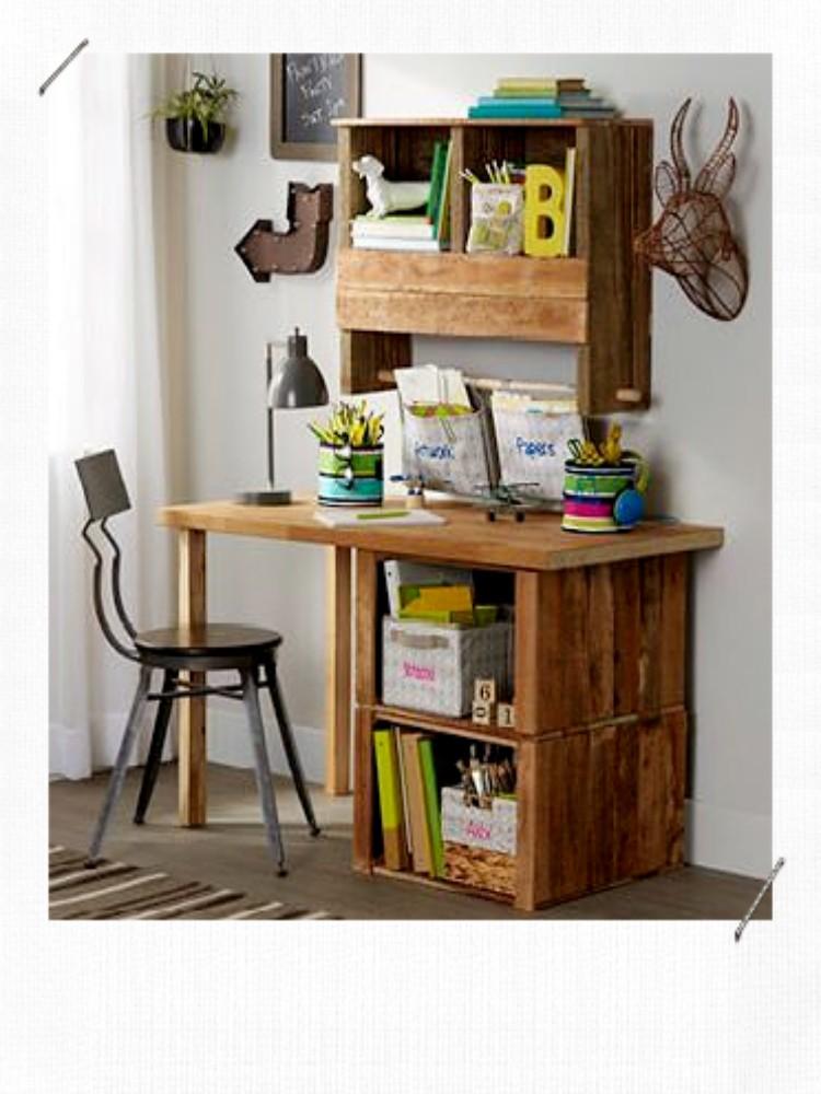 bureau caisse en bois