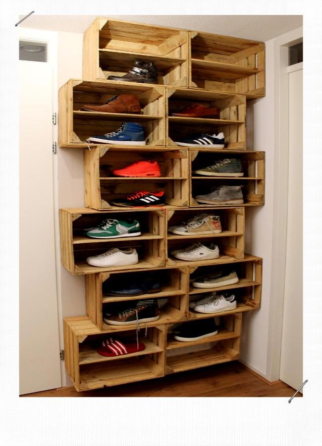 Meuble A Chaussure Caisse En Bois.10 Idees Deco Avec Des Caisses En Bois Misszastyle Blog Deco