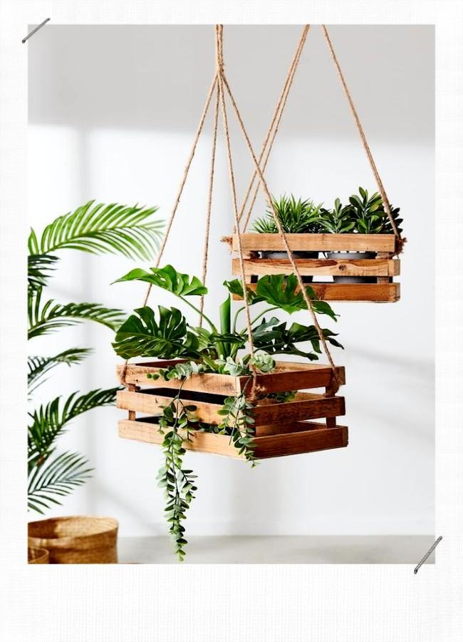 jardinière caisse en bois