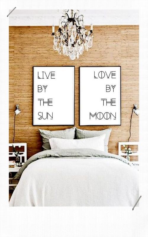 Tête de lit avec des cadres
