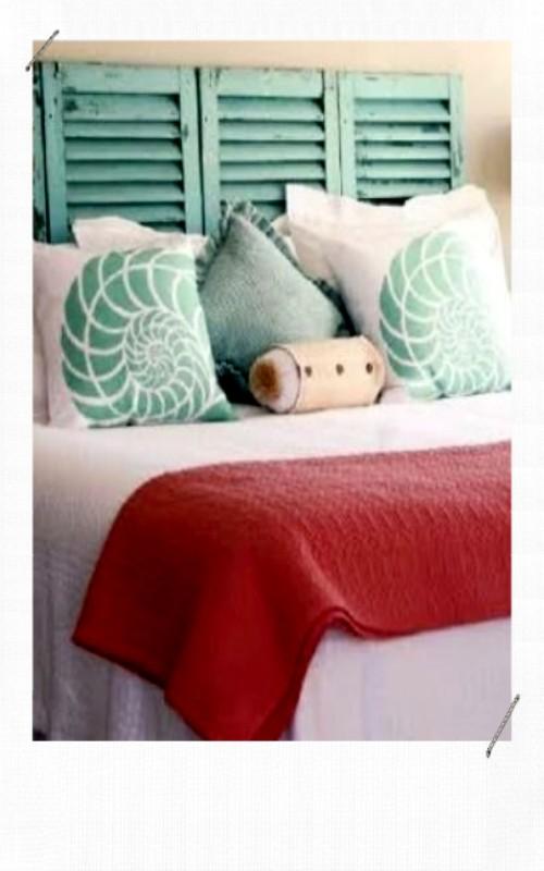 tête de lit avec des persiennes