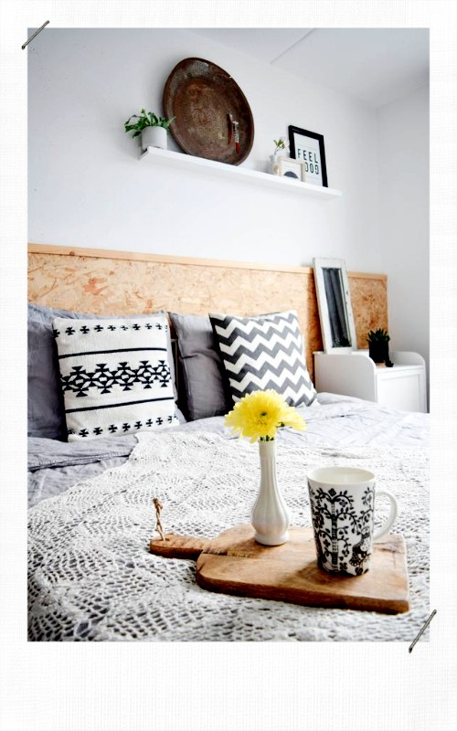 Tête de lit minimaliste