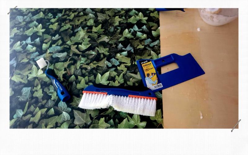 papier peint maroufleur et brosse