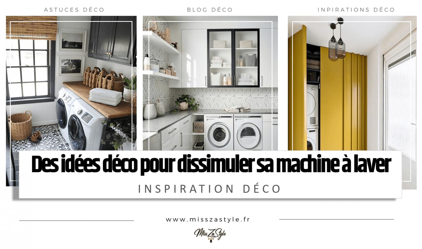 Meuble Salle De Bain Pour Machine A Laver idées déco pour dissimuler sa machine à laver - misszastyle