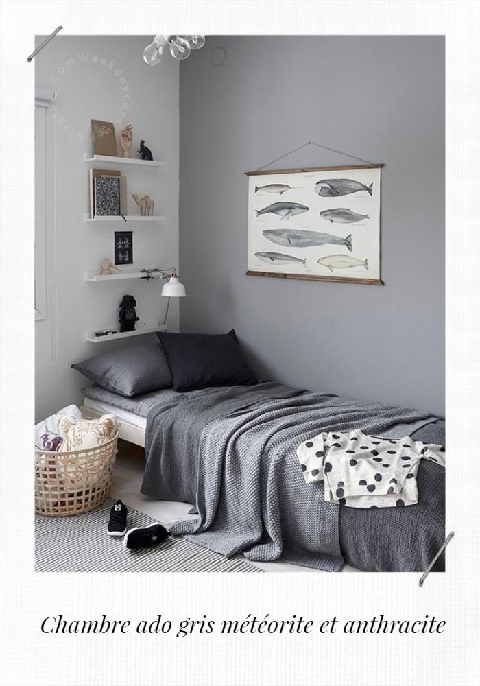chambre ado grise anthracite