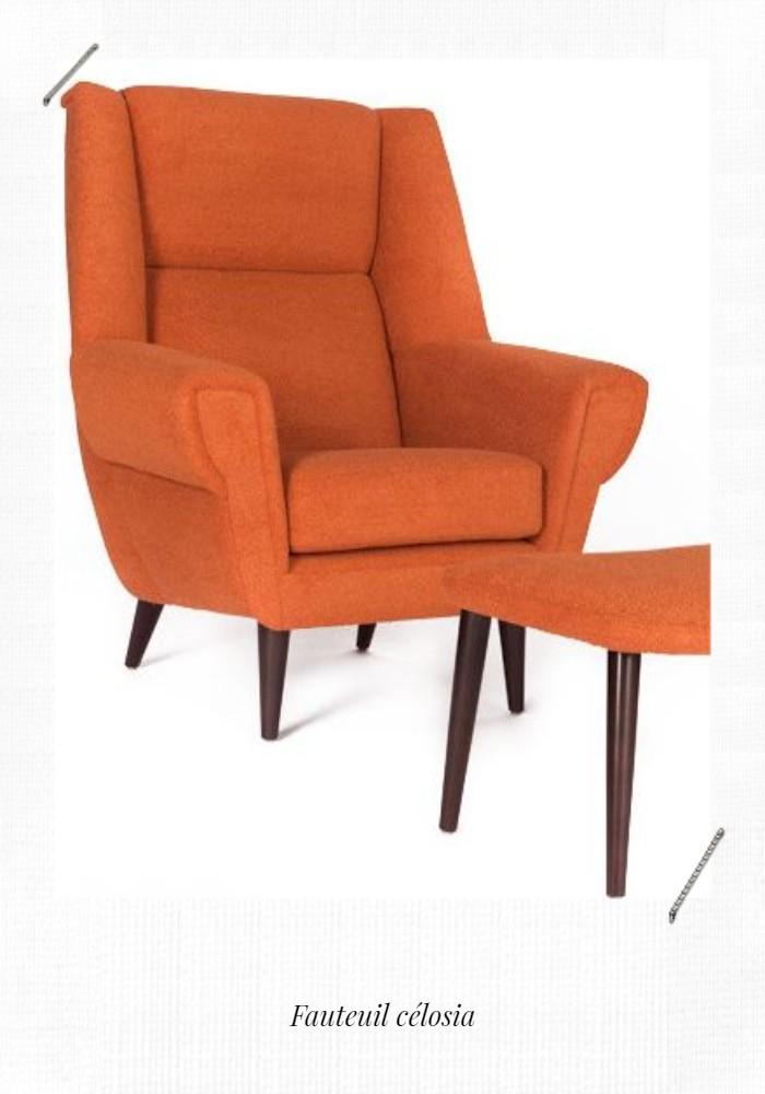 fauteuil celosia orange