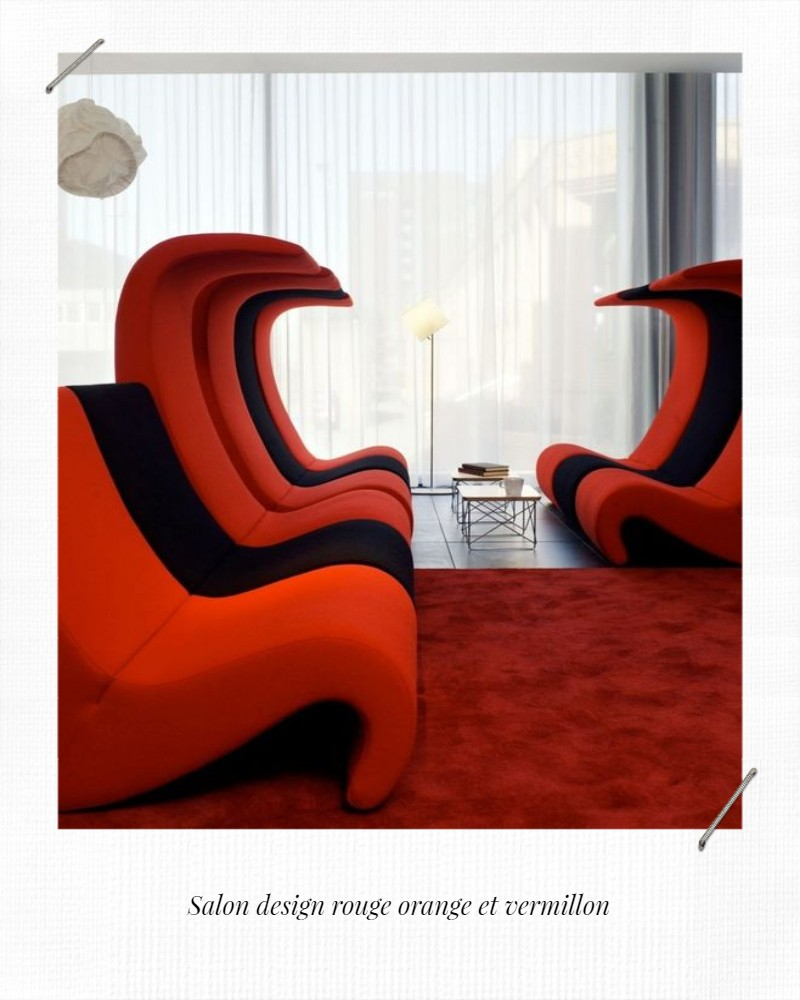 meubles design rouge