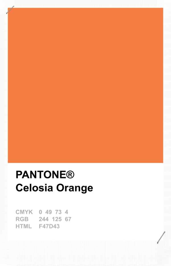 pantone celosia orange