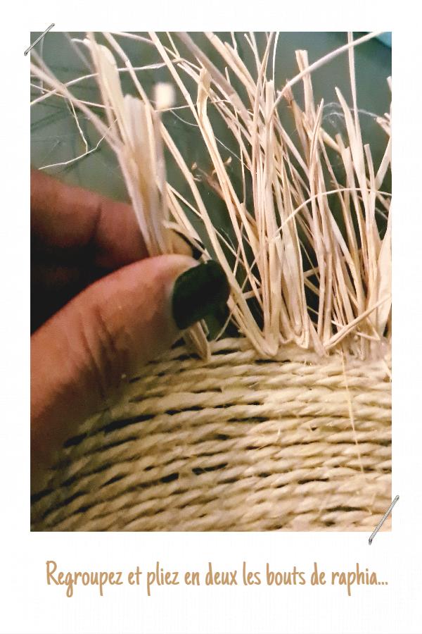 DIY Déco : fabriquer un set de table avec de la corde et du raphia