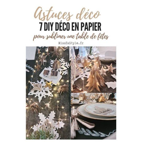 7 DIY déco en papier pour sublimer une table de fêtes