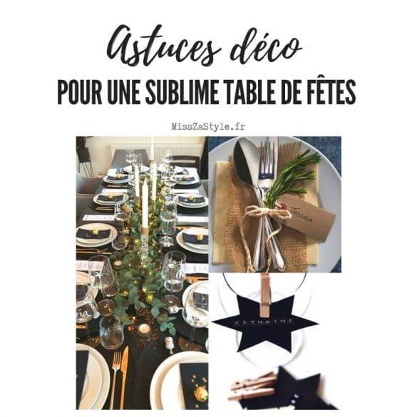 Astuces déco pour une sublime table de fêtes