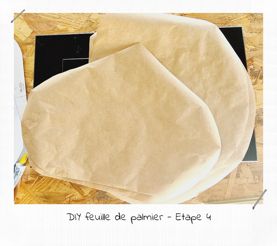 DIY feuilles de palmier en papier kraft