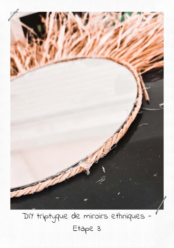 DIY triptyque de miroirs ethniques