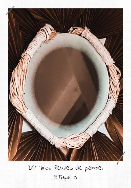 DIY Miroir Feuilles de palmier