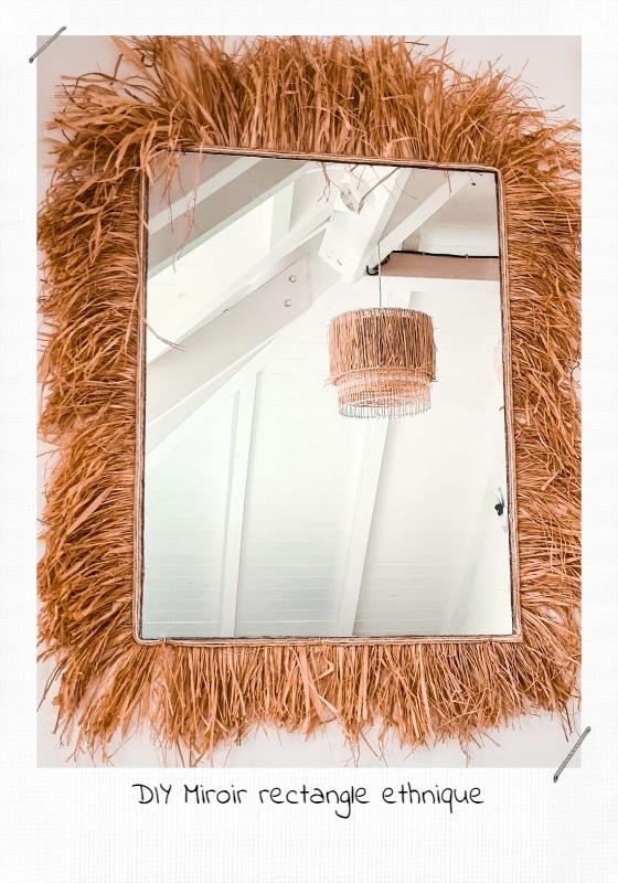 DIY Miroir Rectangle ethnique