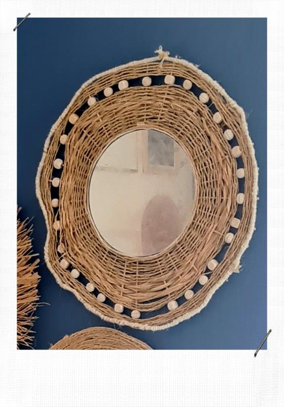 DIY Miroir rond bohème