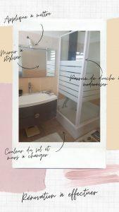Rénovation et décoration d'une petite salle d'eau