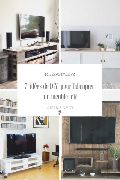 7 idées de DIY pour fabriquer un meuble télé